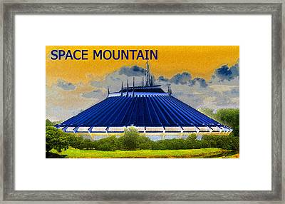 Space Mountain Framed Print by David Lee Thompson