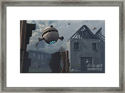 Space Probes And Androids Survey An Framed Print by Mark Stevenson