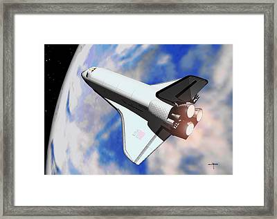 Space Shuttle Discovery Framed Print by Steven Palmer