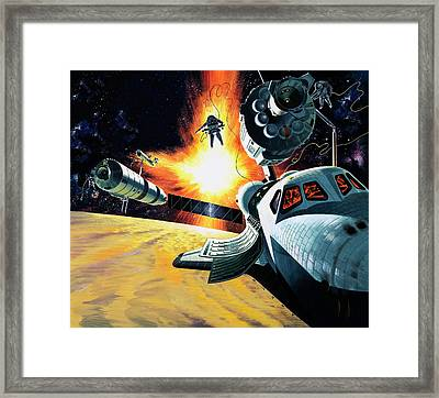 Space Shuttle Framed Print by Wilf Hardy