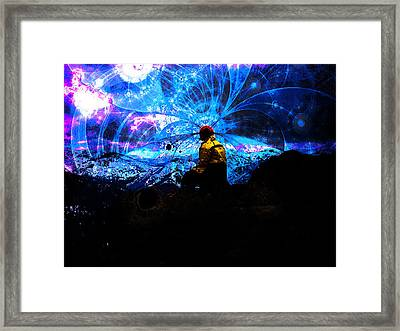 Space Watcher Framed Print by Bear Welch