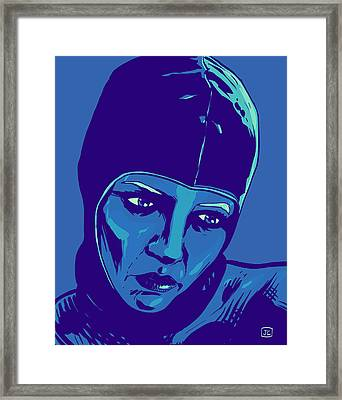 Spaceman In Blue Framed Print by Giuseppe Cristiano