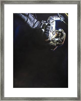 Spacewalk 1  Framed Print by Simon Kregar
