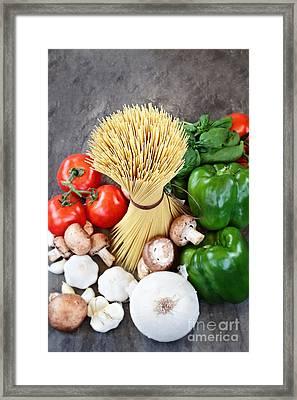 Spaghetti  Framed Print by Stephanie Frey