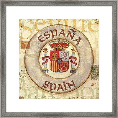 Spain Coat Of Arms Framed Print by Debbie DeWitt