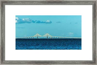 Span Over St. Petersburg Framed Print by Marvin Spates
