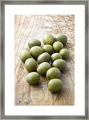 Spanish Manzanilla Olives Framed Print by Frank Tschakert