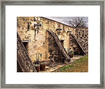 Spanish Mission Architecture Framed Print by David and Carol Kelly
