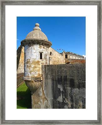 Spanish Sentry Post Of San Cristobal Fort San Juan Puerto Rico Framed Print by George Oze