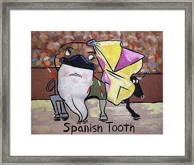 Spanish Tooth Framed Print by Anthony Falbo