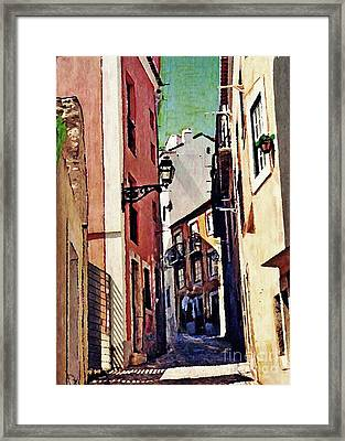 Spanish Town Framed Print by Sarah Loft