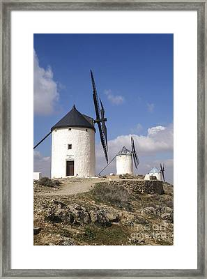 Spanish Windmills In The Province Of Toledo, Framed Print by Perry Van Munster