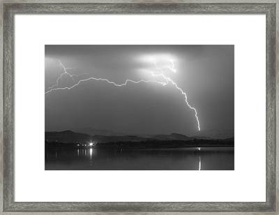 Spark In The Night In Black And White Framed Print by James BO  Insogna