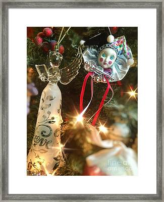 Sparkling Christmas Tree Framed Print by Amy Cicconi