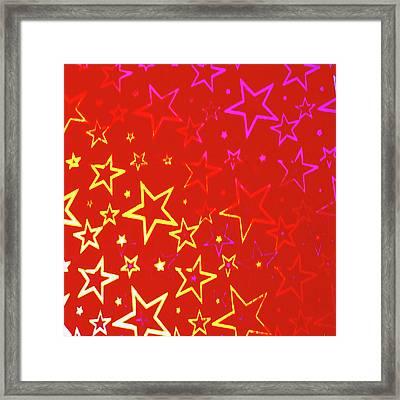 Sparkling Stars No. 01 Framed Print by Ramon Labusch