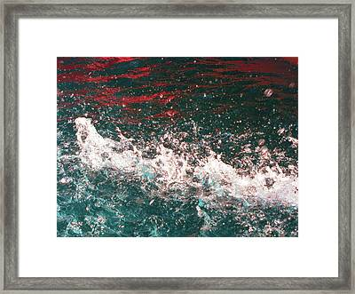 Sparkling Water Red Framed Print by HollyWood Creation By linda zanini
