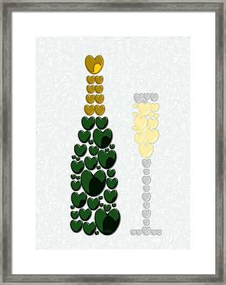 Sparkling Wine Framed Print by Anastasiya Malakhova