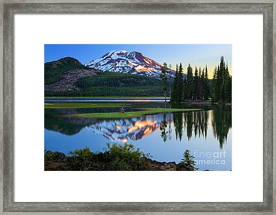 Sparks Lake Sunrise Framed Print by Inge Johnsson