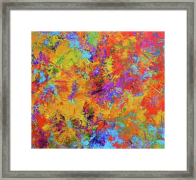 Sparks Of Consciousness Modern Abstract Painting Framed Print by Patricia Awapara