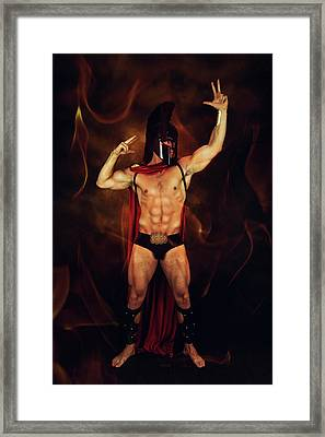 Sparta Mike  Framed Print by Mark Ashkenazi