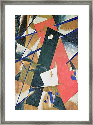 Spatial Force Construction Framed Print by Lyubov Sergeevna Popova