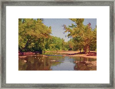 Spavinaw Creek Framed Print by Jeff Kolker