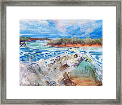 Speckled Trout Framed Print by Jenn Cunningham