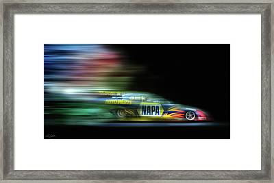 Speed Coloring Framed Print by Peter Chilelli