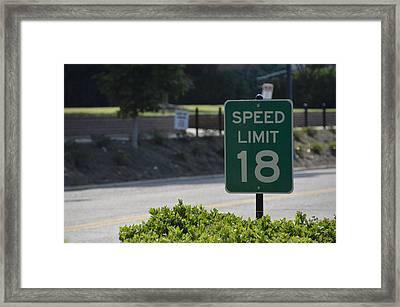 Speed Limit 18 Ole Miss Framed Print by Luke Pickard