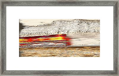 Speeding Train 1 Framed Print by Steve Ohlsen