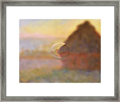 Sphere 5 Monet Framed Print by David Bridburg