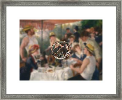 Sphere 4 Renoir Framed Print by David Bridburg