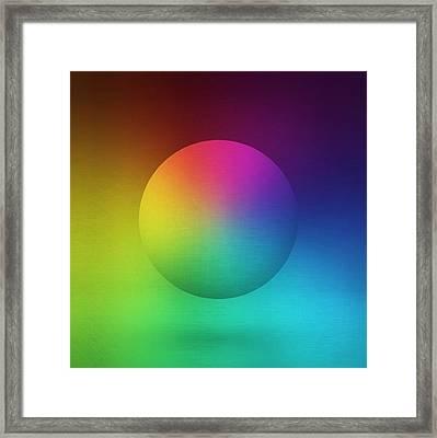 Sphere Spectrum 2 Framed Print by Edouard Coleman