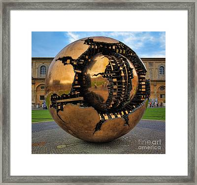 Sphere Within Sphere Framed Print by Inge Johnsson