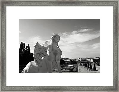 Sphinx- By Linda Woods Framed Print by Linda Woods