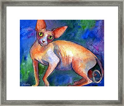 Sphynx Cat 4 Painting Framed Print by Svetlana Novikova
