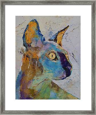 Sphynx Cat Framed Print by Michael Creese