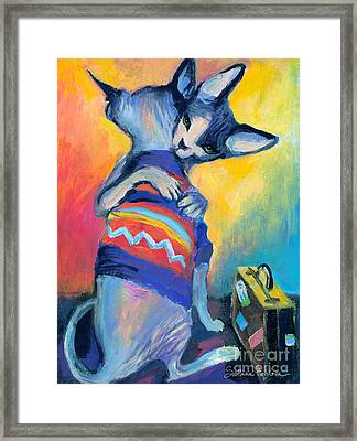 Sphynx Cats Friends Framed Print by Svetlana Novikova