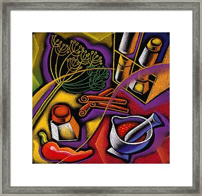 Spice Art Framed Print by Leon Zernitsky