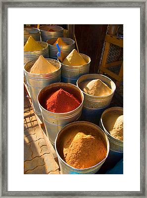 Spices In Marrakesh Morroco Framed Print by David Smith