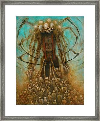 Spider Alien Framed Print by Robert Anderson