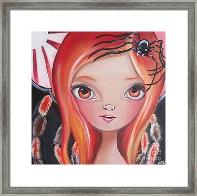 Spider Fairy Framed Print by Jaz Higgins