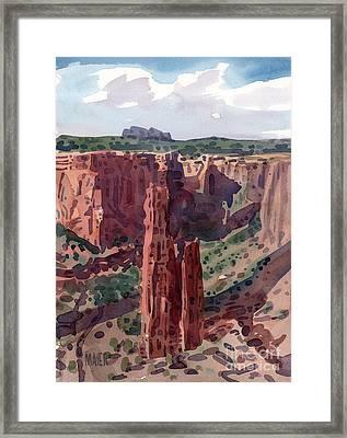 Spider Rock Overlook Framed Print by Donald Maier