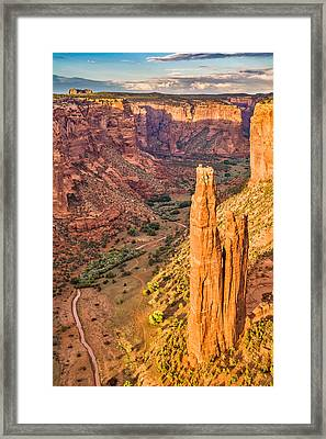 Spider Rock Sunset - Canyon De Chelly National Monument Photograph Framed Print by Duane Miller