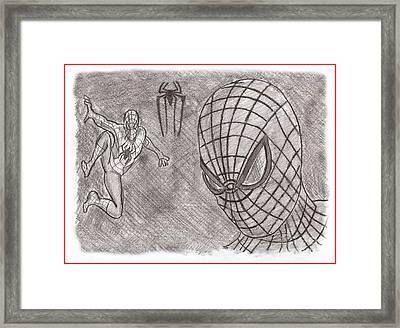 Spiderman Framed Print by Chris DelVecchio