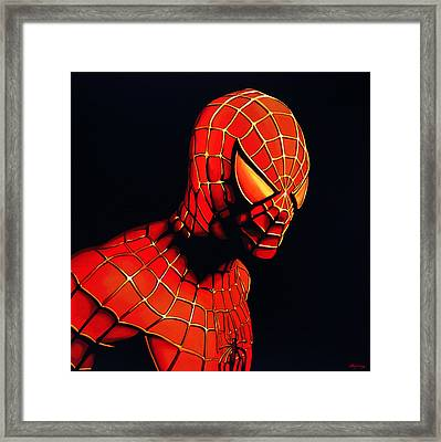 Spiderman Framed Print by Paul Meijering