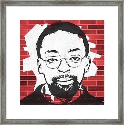 Spike Lee Graphic Tribute Framed Print by Dan Sproul