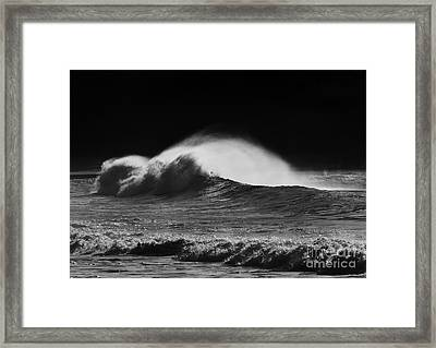 Spindrift Framed Print by Mike  Dawson