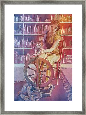 Spinning Tales Framed Print by Jenny Armitage