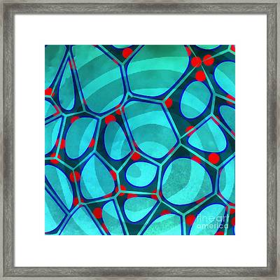 Spiral 4 - Abstract Painting Framed Print by Edward Fielding